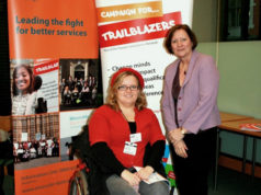 Trailblazer Kim Randle and Alison Seabeck (MP for Plymouth) at the Parliament presentation of Inclusion Now