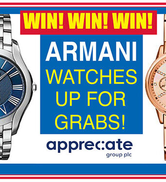 Win two Armani watches with All Together Now!